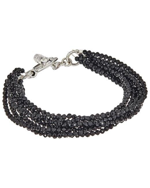 King Baby Studio | Metallic 8 Strand Spinel Bracelet W/ Mini Toggle Clasp | Lyst