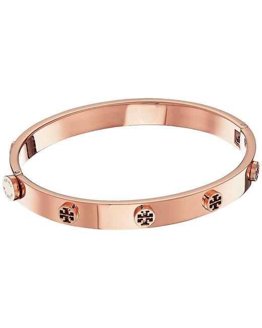 Tory Burch | Multicolor Logo Stud Hinge Bracelet | Lyst