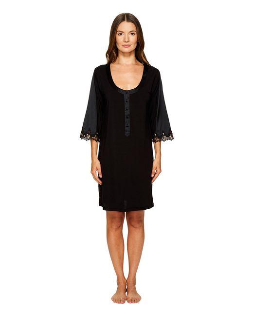 La Perla | Black Blooming Macrame Sleep Shirt | Lyst
