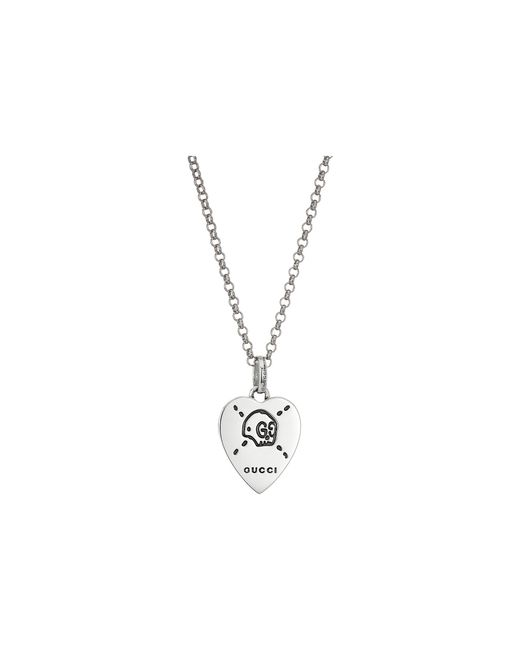 Gucci | Metallic 45cm Ghost Heart Necklace | Lyst