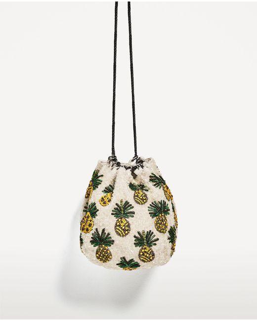Zara | Multicolor Pineapple Bucket Bag | Lyst