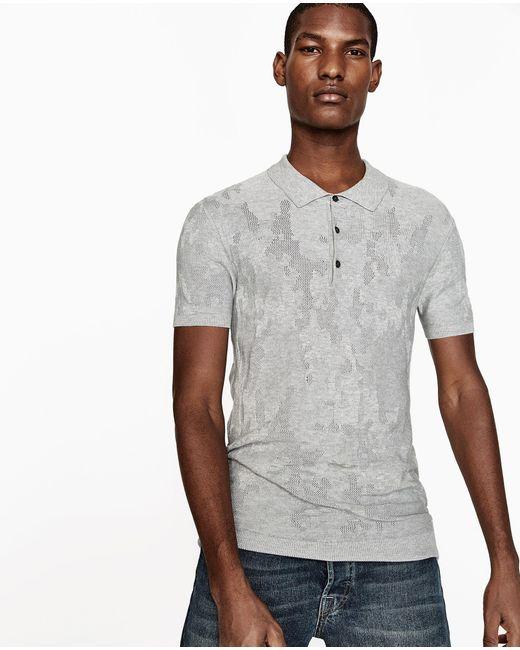 Zara camouflage polo shirt for men lyst for Camo polo shirts for men