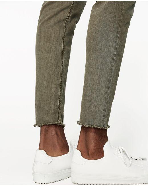 Zara Carrot Fit Bull Denim Jeans in Green for Men | Lyst