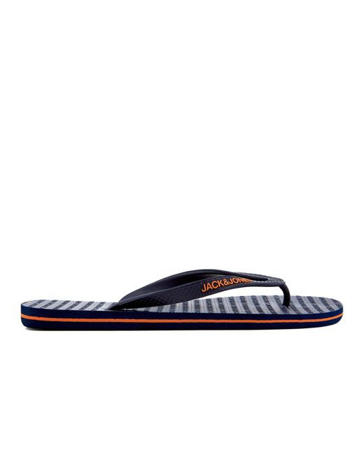 a7439d922485e Jack   Jones Plain Flip Flops in Blue for Men - Save 33% - Lyst