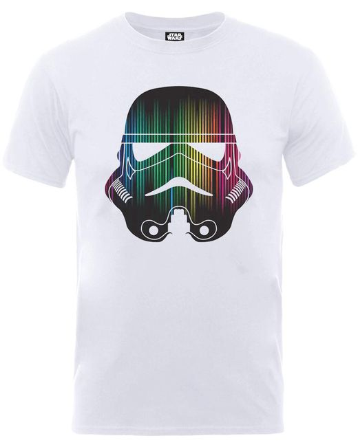 Star Wars Vertical Lights Stormtrooper T-shirt in White for Men - Lyst 64ce1104a