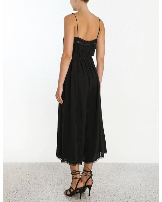15ad04a207 Lyst - Zimmermann Pin Tuck Jumpsuit in Black - Save 60%