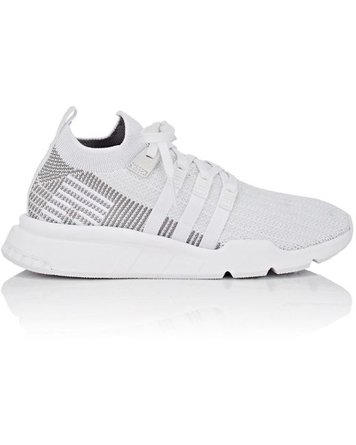 adidas Men's White Flashback Primeknit Sneakers