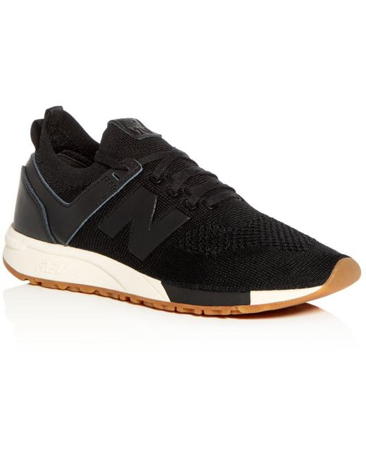 New Balance White Men's Deconstructed 247 Knit Lace Up Sneakers