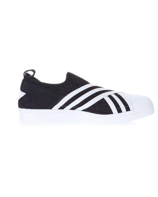 adidas Originals Men's Blue Superstar Slip-on Sneakers