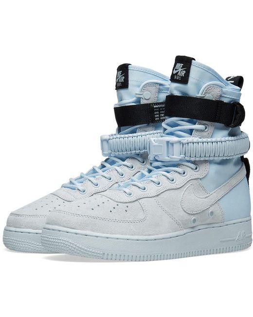 Nike Men's Blue Sf Air Force 1 Hi Boot