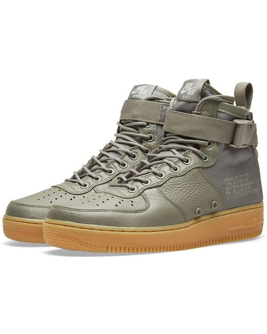 Nike Men's Brown Sf Af1 Mid W