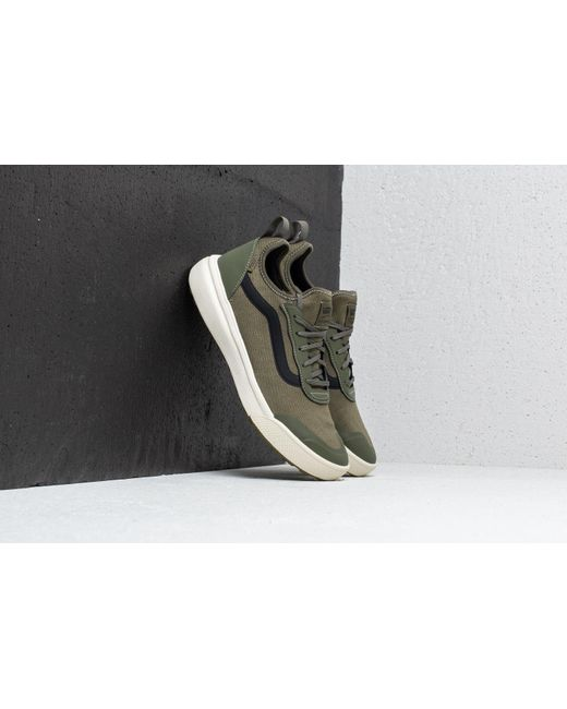 Vans Mens Leaf Green Knit Ultrarange Ac Trainers