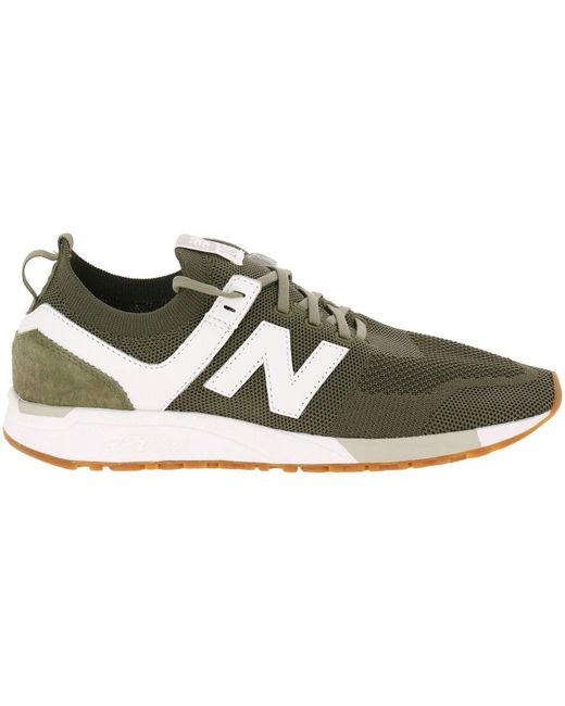 New Balance Green Sneakers Shoes Men