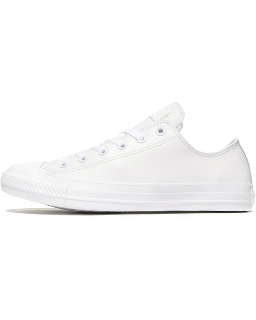 Converse Men's White All Star Ox Leather Mono