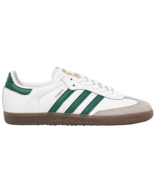 adidas Originals Men's White Samba Classic Og Leather Sneakers