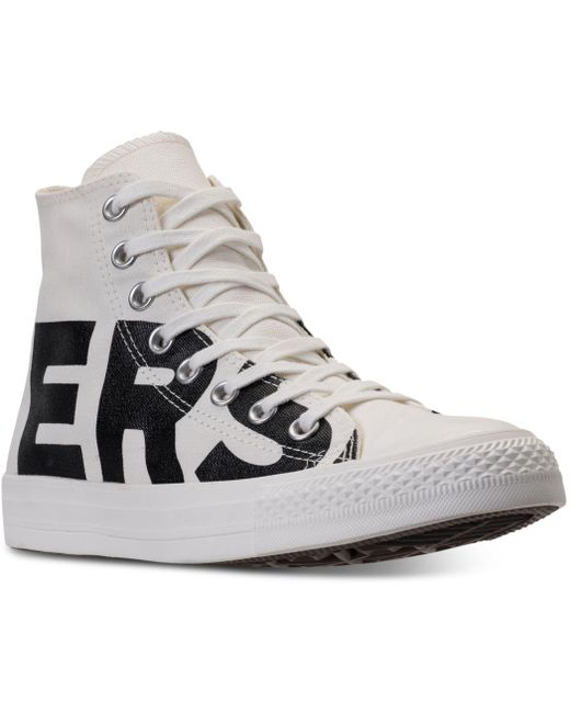 Converse Men's All Star Wordmark Canvas High-top Trainers