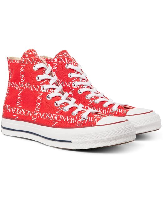 Converse Men's White + Jw Anderson 1970s Chuck Taylor All Star Logo-printed Canvas High-top Sneakers