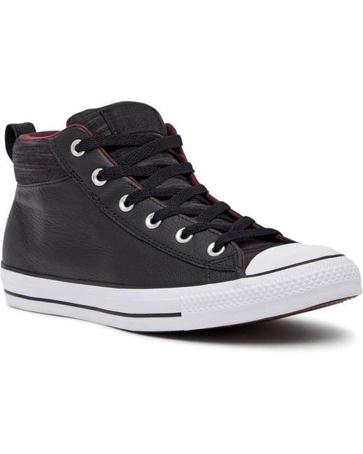 Converse Black Chuck Taylor All Star Street Mid Sneaker (unisex)