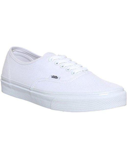 Vans Men's White Authentic Platform