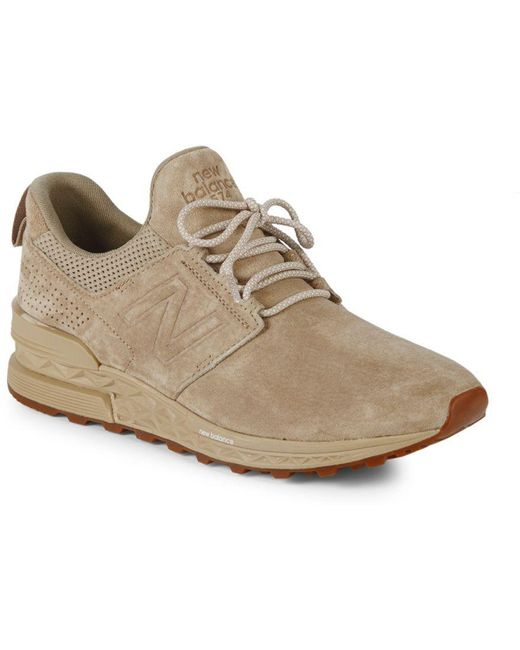 New Balance Men's T3 Suede And Mesh Sneakers