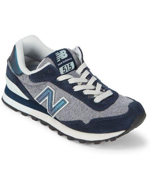 New Balance Men's Blue Suede Low-top Sneaker