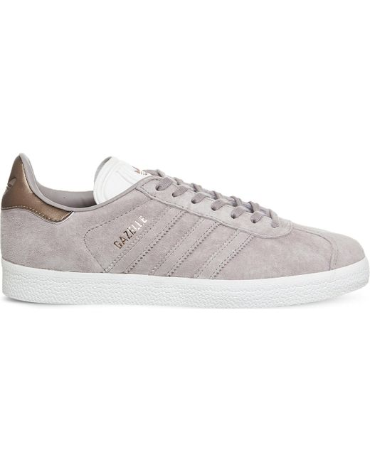 adidas Men's Gray Gazelle Low-top Suede Trainers