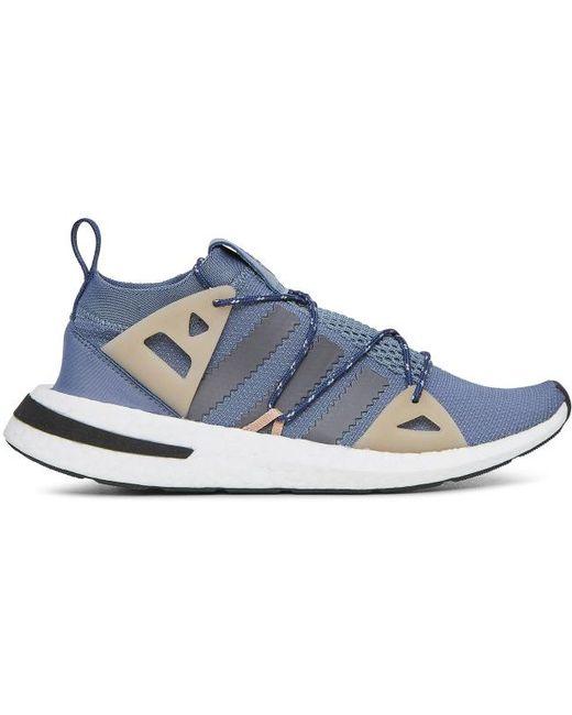adidas Men's Blue Raw Flyknit Slip On Sneakers