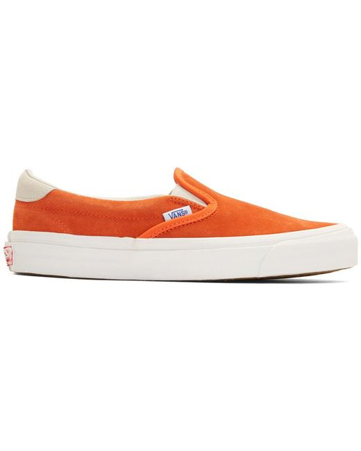 Vans Men's Blue Suede Og Classic Slip-on Sneakers