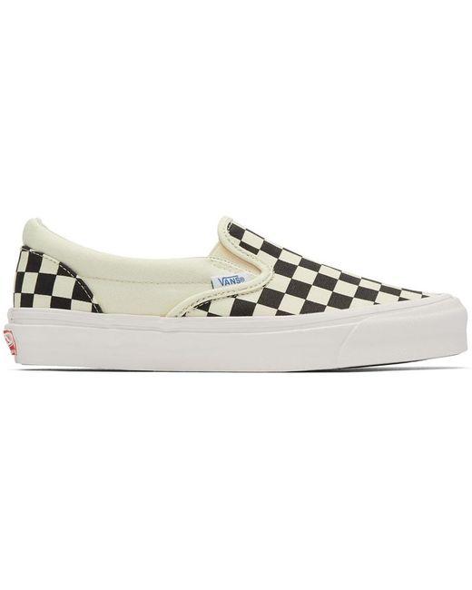 Vans Men's Off-white Og Classic Lx Slip-on Sneakers