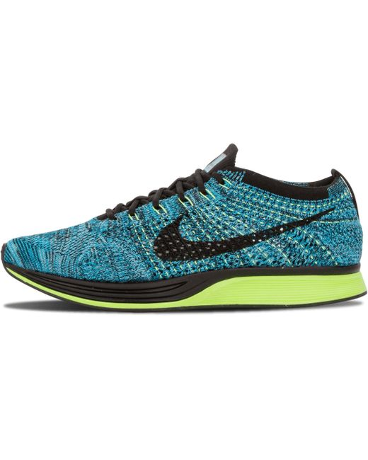 Nike Men's Blue Flyknit Racer