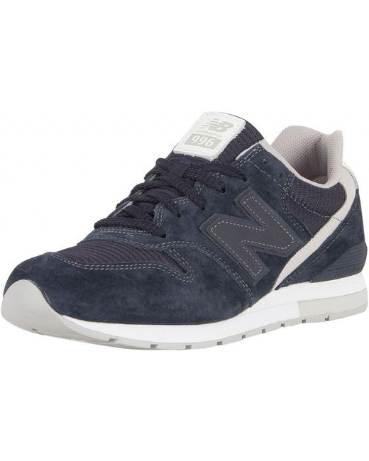 New Balance Men's Suede Trainers, Blue Men's Shoes (trainers) In Blue