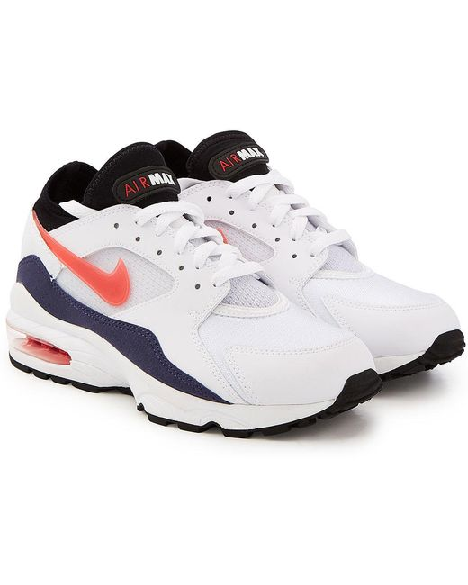 Nike Men's Blue Air Max 93 Sneakers