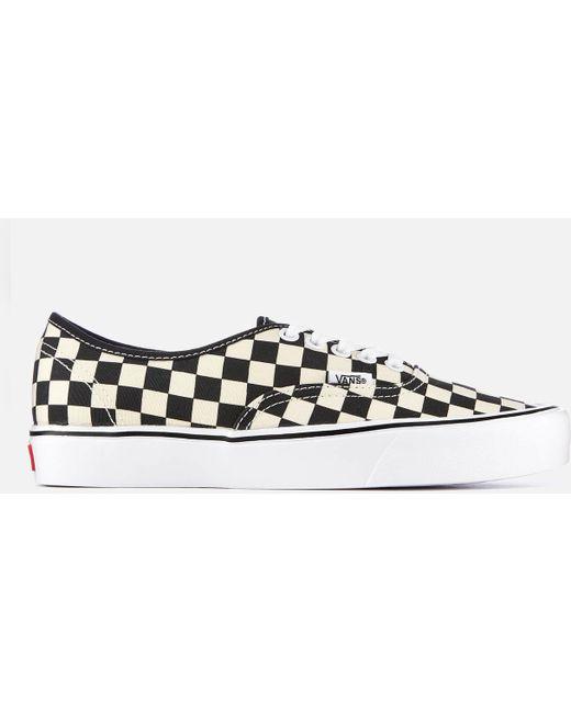 Vans Men's Blue Checkerboard Slip-on Trainers