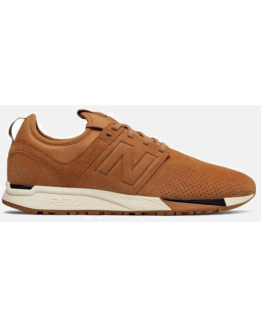 New Balance Men's Black 247 Luxe Trainers