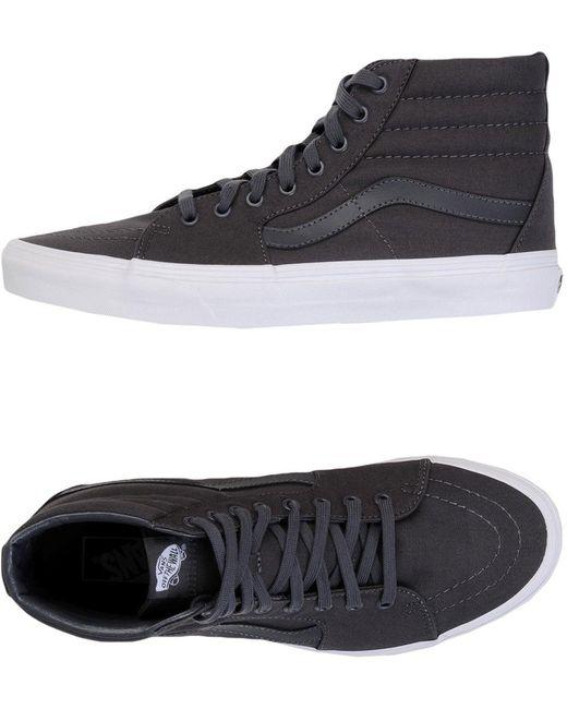 Vans Men's Gray High-tops & Sneakers