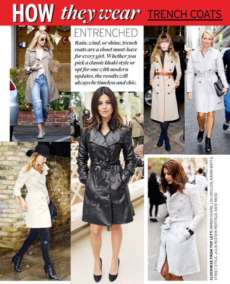 How they wear: Trench Coats