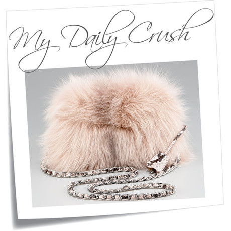 {my daily crush} Prada Fox Fur Clutch