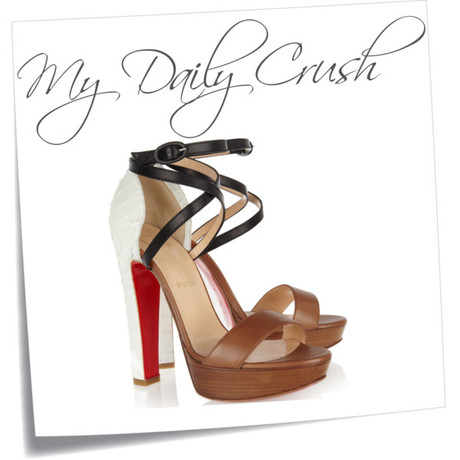 {my daily crush} Christian Louboutin Summerissima Python & Leather Sandal