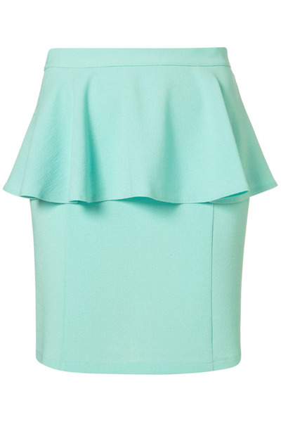 Loving this gorgeous mint peplum skirt from Topshop. With the...