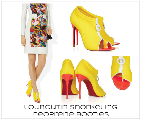 {over the top} Christian Louboutin Snorkeling Neoprene Booties