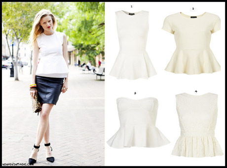 WHITE PEPLUM TOP: LOOK OF THE DAY