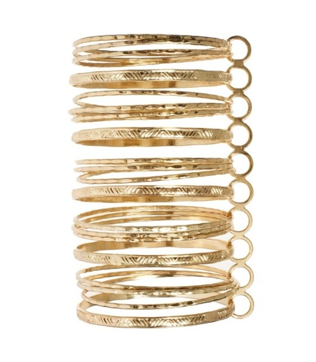 what-do-i-wear:  River Island Gold Connected Bangles available...