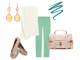 Today's Inspiration - Soft Summer Look Paired With Tory Burch Reva Flats