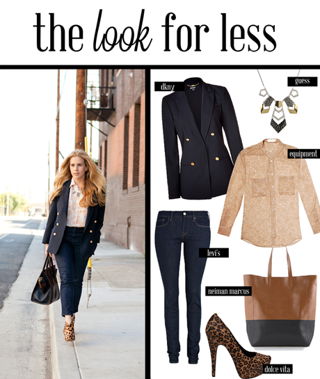 the look for less: dior blazer