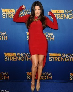 Fit And Fly: Khloe Kardashian-Odom At The MDA Show Of Strength Taping