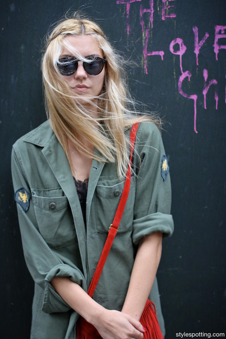 Get the look: ASOS Utility Blouse, ASOS Military Shirt, Petite...