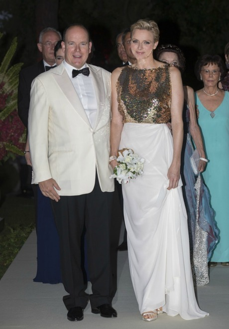 Prince Albert and Princess Charlene attended the Red Cross Ball in Monte Carlo