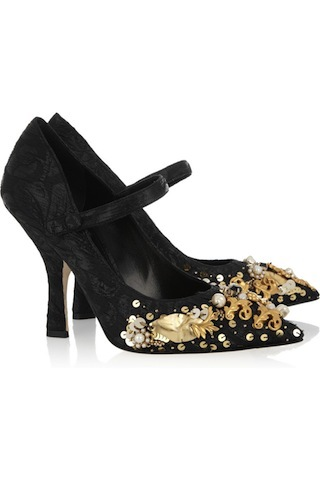 I bet if I wore these absurdly ornate Dolce shoes and clicked my...