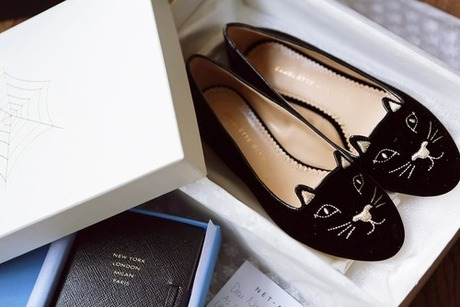 what-do-i-wear:  Charlotte Olympia Kitty Flats / Smythson Runway...