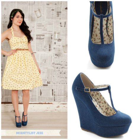 Coveted Shoes: Denim Platforms Wedges
